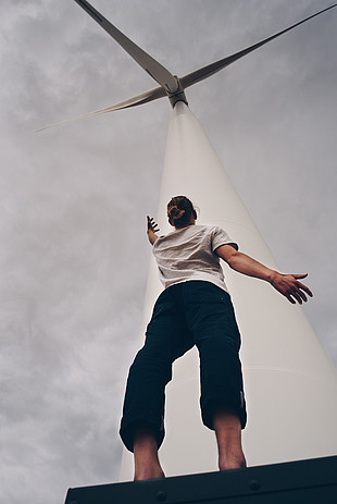 Wind Mill Woman